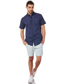 BLUE COMBO MENS CLOTHING ACADEMY BRAND SHIRTS - 19S842BCOM