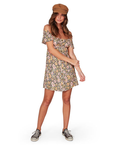 OFF BLACK WOMENS CLOTHING BILLABONG DRESSES - BB-6507479-OFB