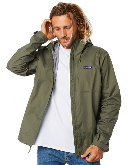 INDUSTRIAL GREEN MENS CLOTHING PATAGONIA JACKETS - 85240INDG