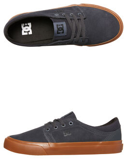 CHARCOAL BLACK MENS FOOTWEAR DC SHOES SKATE SHOES - ADYS300172CB3