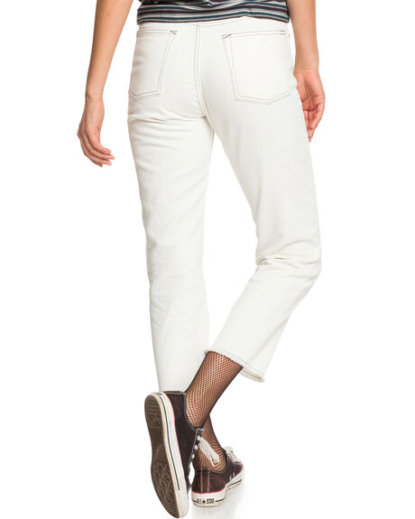 LILY WHITE WOMENS CLOTHING QUIKSILVER JEANS - EQWNP03020-WCQ0