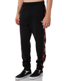 BLACK MENS CLOTHING STUSSY PANTS - ST087600BLK