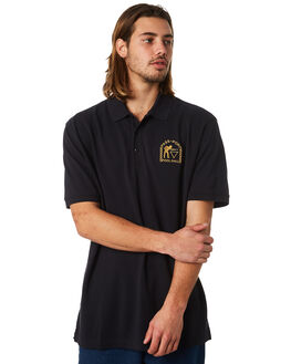 BLACK MENS CLOTHING PASS PORT SHIRTS - PHALLPLOBLK