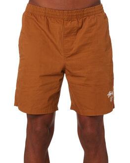 TAN MENS CLOTHING STUSSY BOARDSHORTS - ST091601TN