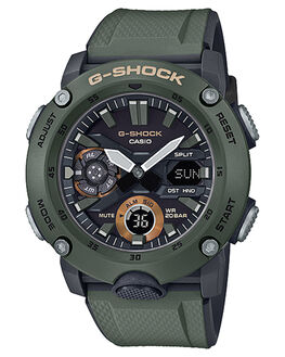 OLIVE MENS ACCESSORIES G SHOCK WATCHES - GA2000-3AOLV