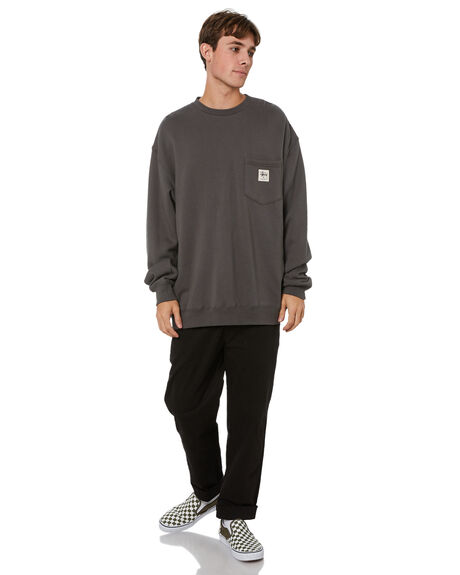 SOLID CHARCOAL MENS CLOTHING STUSSY HOODIES + SWEATS - ST016212SLCHA