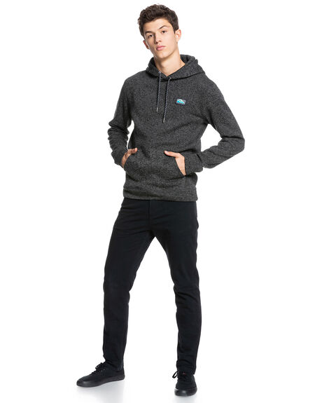 DARK GREY HEATHER MENS CLOTHING QUIKSILVER HOODIES + SWEATS - EQYFT04304-KRPH