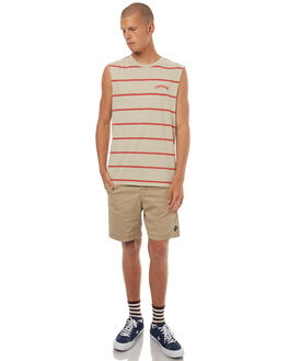 SAND MENS CLOTHING THE CRITICAL SLIDE SOCIETY SINGLETS - SWT1727SAND