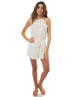 WHITE WOMENS CLOTHING TIGERLILY PLAYSUITS + OVERALLS - T371430WHT