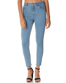 STONE BLUE WOMENS CLOTHING AFENDS JEANS - 53-01-018STB