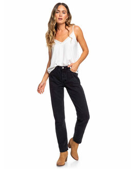 ANTHRACITE WOMENS CLOTHING ROXY JEANS - ERJDP03222-KVJ0