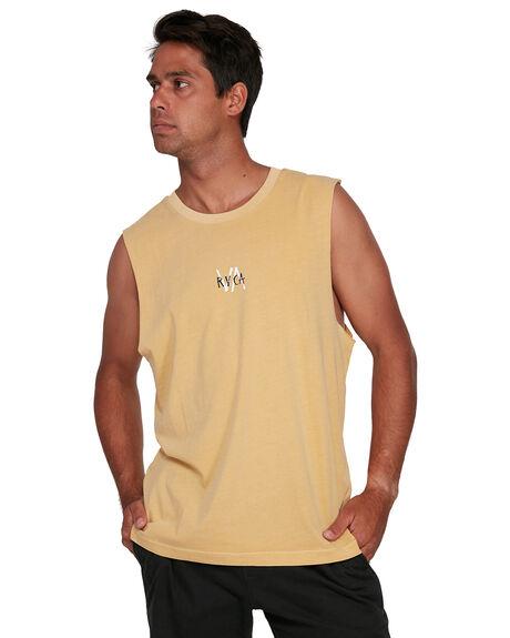 VINTAGE GOLD MENS CLOTHING RVCA SINGLETS - RV-R105002-V21