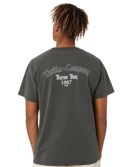 MERCH BLACK MENS CLOTHING THRILLS TEES - TR20-119BMMBK