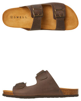 TAUPE MENS FOOTWEAR SWELL THONGS - 100010TAUPE