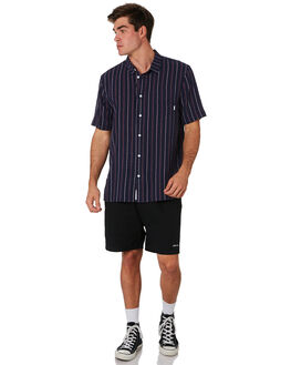 NAVY MAROON MENS CLOTHING RPM SHIRTS - 9PMT10ANVYMR