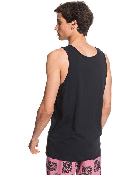 BLACK MENS CLOTHING QUIKSILVER SINGLETS - EQYZT05781-KVD0