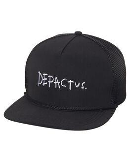 BLACK MENS ACCESSORIES DEPACTUS HEADWEAR - D51711612BLK