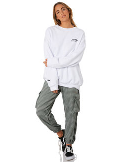 WHITE WOMENS CLOTHING STUSSY JUMPERS - ST196324WHI