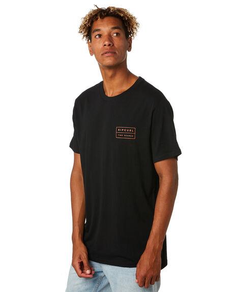 BLACK MENS CLOTHING RIP CURL TEES - CTETK20090
