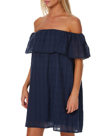 NAVY BLUE WOMENS CLOTHING RUSTY DRESSES - DRL0840NVB