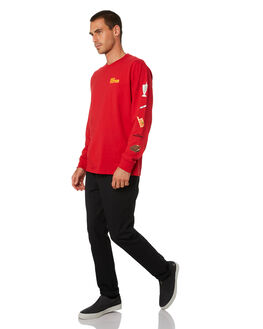 RED MENS CLOTHING HUF TEES - TS01307-RED