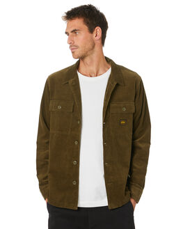 DARK OLIVE MENS CLOTHING DEPACTUS SHIRTS - D5204160DKOLV