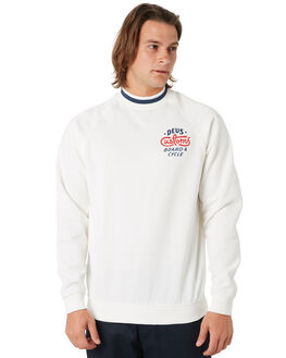 VINTAGE WHITE MENS CLOTHING DEUS EX MACHINA JUMPERS - DMP98160VNWHT