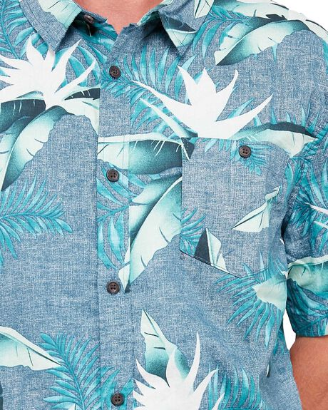 MAJOLICA BLUE MENS CLOTHING QUIKSILVER SHIRTS - EQYWT03954-BSM6