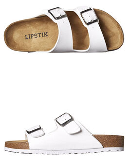 WHITE WOMENS FOOTWEAR LIPSTIK FASHION SANDALS - 5710LWHI