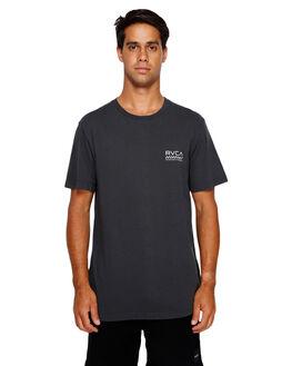 BLACK MENS CLOTHING RVCA TEES - RV-R191057-BLK