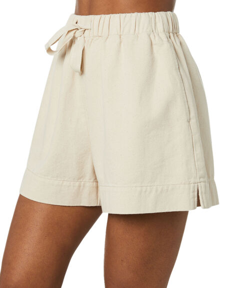 UNBLEACHED WOMENS CLOTHING THRILLS SHORTS - WTS20-304AUNBL