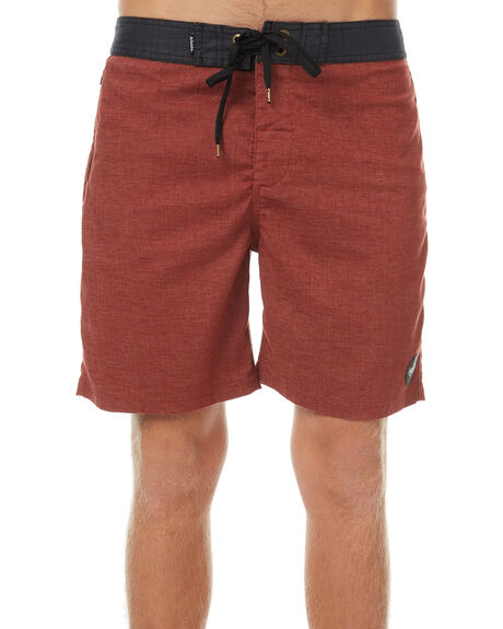 RED OIL MENS CLOTHING AFENDS BOARDSHORTS - 10-01-076RED