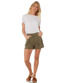 KHAKI WOMENS CLOTHING SILENT THEORY SHORTS - 6093125KHAK