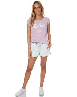 LILAC WOMENS CLOTHING RIP CURL TEES - GTESV10108