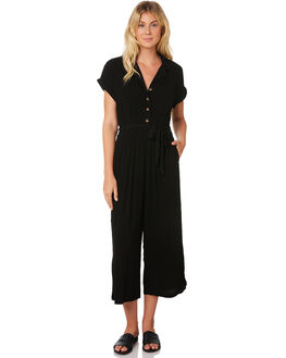 BLACK WOMENS CLOTHING SASS PLAYSUITS + OVERALLS - 13186DWSSBLK