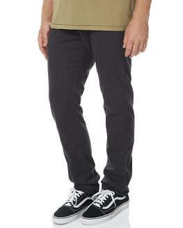 BLACK MENS CLOTHING RUSTY PANTS - PAM0869BLK