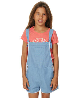 LIGHT BLUE KIDS GIRLS ROXY PLAYSUITS + OVERALLS - ERGWD03033BLCW