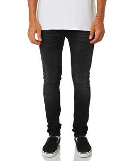 WORN BLACK MENS CLOTHING NUDIE JEANS CO JEANS - 113149WBLK
