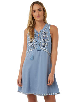 CHAMBRAY WOMENS CLOTHING TIGERLILY DRESSES - T385421CHAM