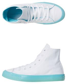 WHITE BLEACHED AQUA OUTLET KIDS CONVERSE FOOTWEAR - 660718AQU