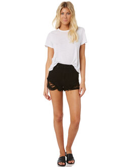 SALTY BLACK WOMENS CLOTHING A.BRAND SHORTS - 70144SBLK