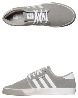 SOLID GREY WHITE MENS FOOTWEAR ADIDAS SNEAKERS - SSCQ1177GRYM