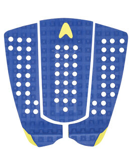 BLUE YELLOW SURF HARDWARE ASTRODECK TAILPADS - 123BLYE