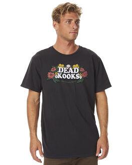 WASHED BLACK MENS CLOTHING DEAD KOOKS TEES - DKSSTEE04WBLK