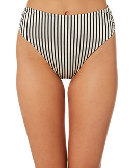 BLACK STRIPE OUTLET WOMENS TORI PRAVER BIKINI BOTTOMS - 1R19SBSYSTBLK