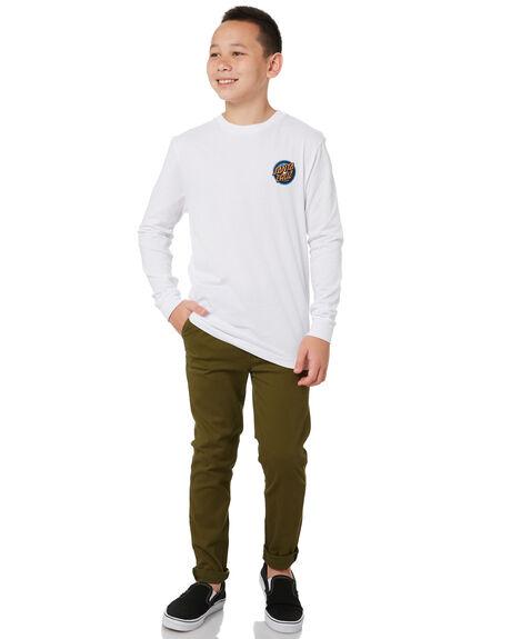 WHITE KIDS BOYS SANTA CRUZ TOPS - SC-YLA0370WHT