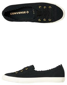 BLACK WOMENS FOOTWEAR CONVERSE FLATS - 563483BLK