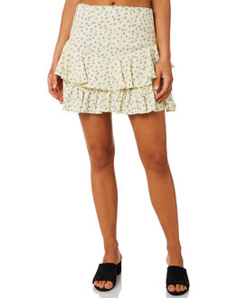 FLORAL SCATTER LEMON WOMENS CLOTHING MLM LABEL SKIRTS - MLM681EFLRLM