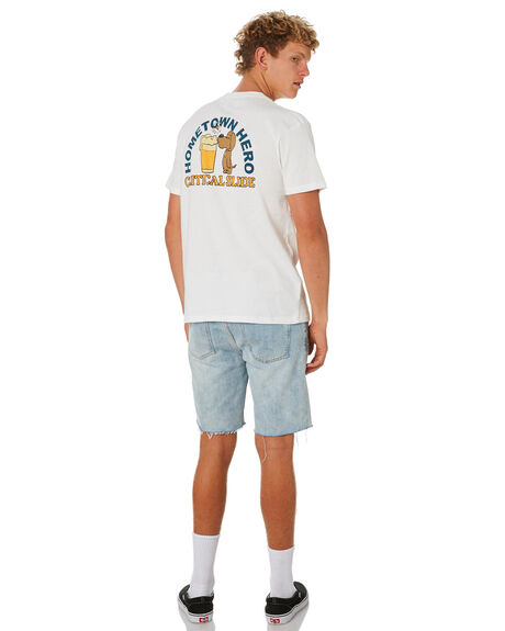 WHITE MENS CLOTHING THE CRITICAL SLIDE SOCIETY TEES - TE1895AWHT