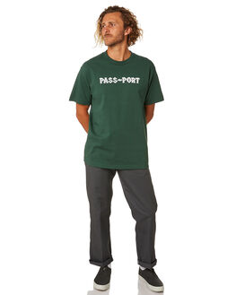 FOREST GREEN MENS CLOTHING PASS PORT TEES - PPBARBSFSTGR